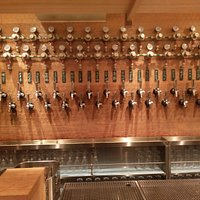 wall of taps, note temperature and pressure constantly monitored