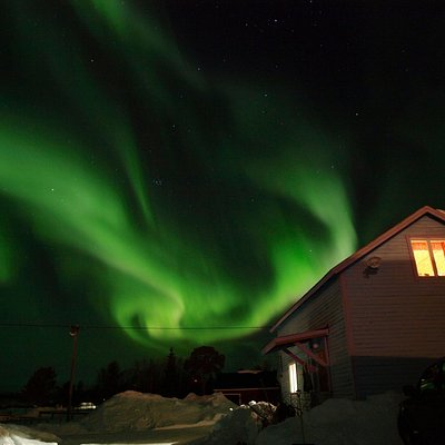 Northern light over the farm