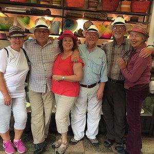 We all bought hats at La Paja Toquilla--most fun ever!