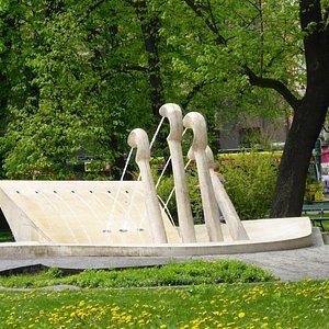Chopin's Piano Water Fountain