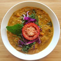 Winter Curry made with (Local Vashon Squash )  Lime Leaves and Mint mmm