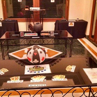 Our Casino setup for a Casino Nite Theme