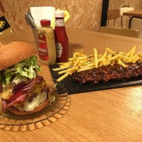 Irons Burger..😍🍔😋BBQ Ribs😋🙀😍