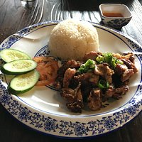 Spicy BBQ Chicken with Coconut Rice