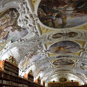 The stunning ceiling of the second library