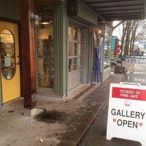 Granville Island, Railspur District, Studio/ Gallery entrance , welcome!