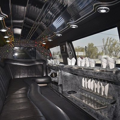 Stretch Limousine Interior of Mountain Limousine Banff