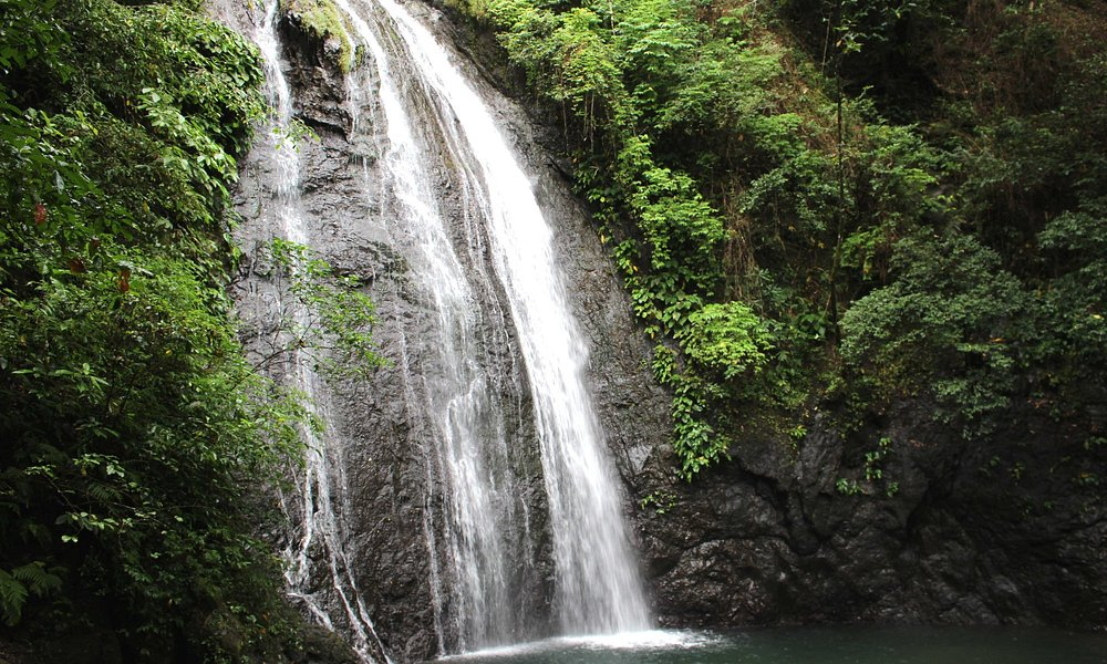 the first tier of the falls
