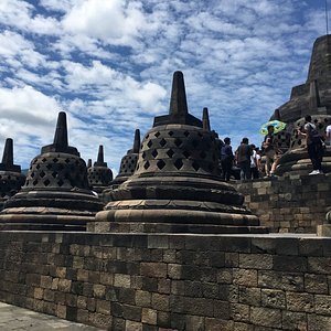 Borobudur, Yogjakarta. Best place for history and culture. The details of the buildings is so ni
