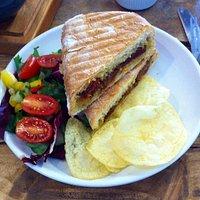 Sundried tomato and pesto panini