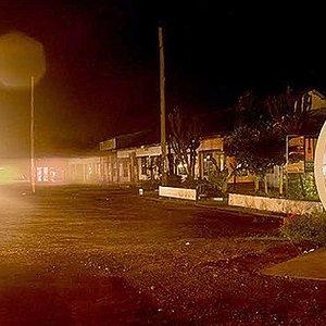 The Uganda Equator at night.