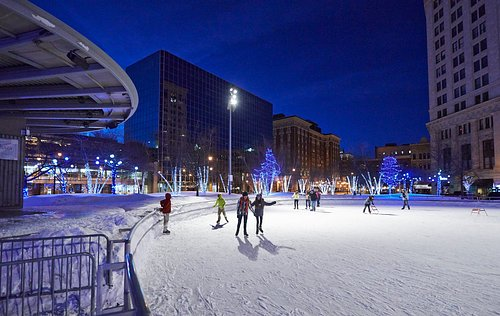 Ice skating in Downtown Grand Rapids