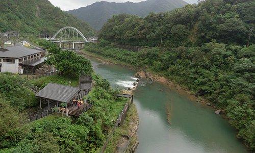 Nice view up the mining rail bridge