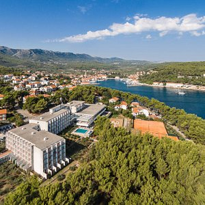 View on Hotel Hvar and Jelsa Town