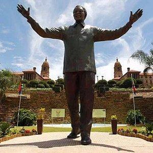 Nelson Mandela Statue at Pretoria Parliament Building