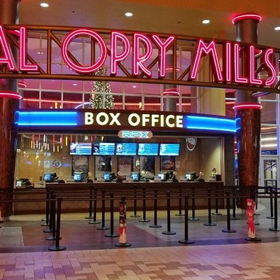 In mall entrance to movies