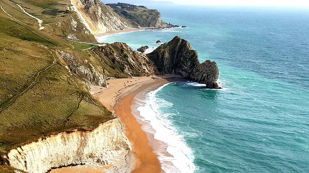 Durdle Door from above Bat's Head