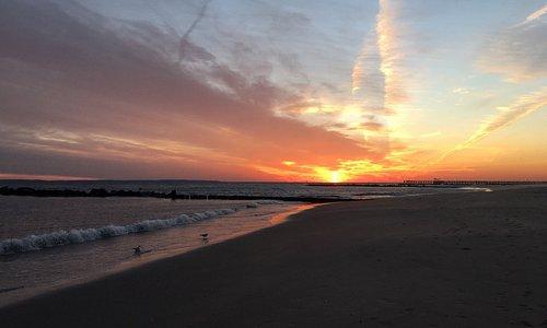 Деревянный помост -визитная карточка Брайтона!  Пляж чистый и тихий в зимнее время. Отличное мес