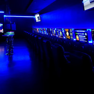 Premium video gaming lounge with the newest and hottest video games.
