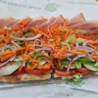 Footlong Ham & Cheese sub