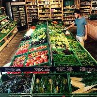 Banc de fruits et légumes Bio