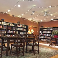 Beautiful library with galleries of art and comfortable seating. They have CD and videos availab