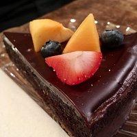Quiche Lorraine and cakes