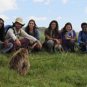 Trekking in the simian mountain