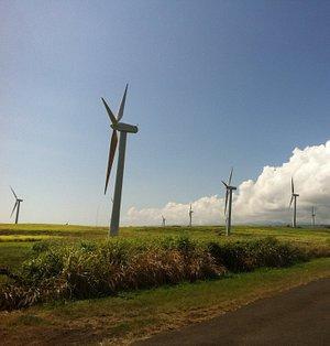 The wind turbines at Upolo Point, Big Island, Hawai'i