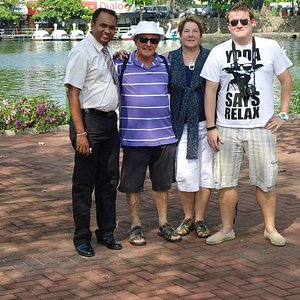 Colombo tour with a group from Australia, They enjoyed so much . this a picture at slave Island