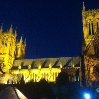 Lincoln Cathedral taken from the Medieval Bishop's Palace grounds