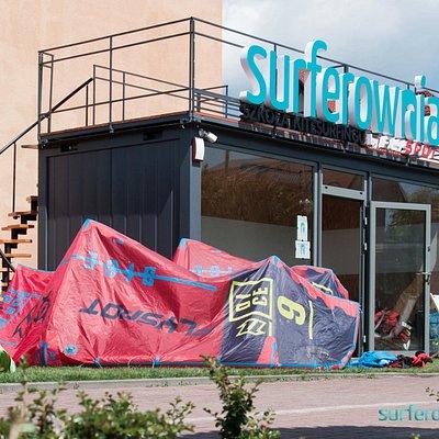 Biuro szkoły kite surferownia