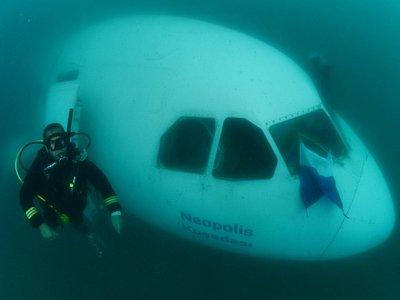 Neopolis Airbus A300 Plane wreck diving in Kusadasi Turkiye