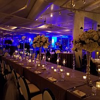 wedding reception in Grand Street Cafe's ballroom