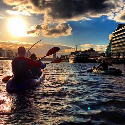 Paddling into the sunset