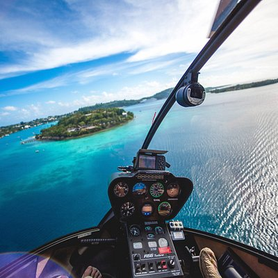 Taking off towards Iririki Island on a perfect day