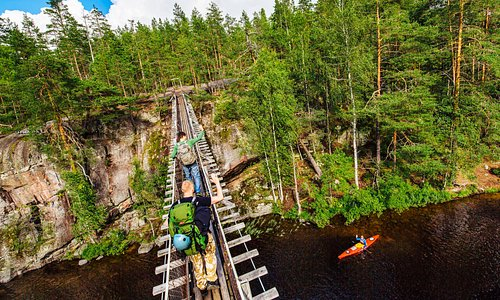 Lapinsalmi Suspension Bridge