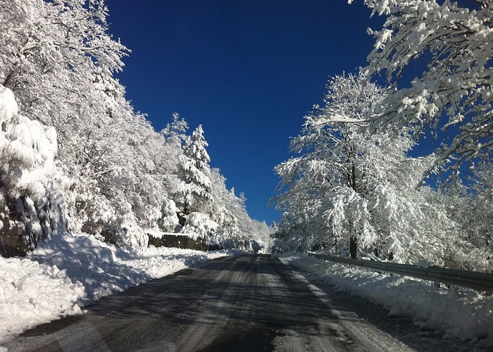 The way to Etna from Linguaglossa (Etna nord)