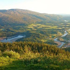 Utsikt fra Storhusfjellet