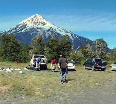Ascenso al volcán Lanin