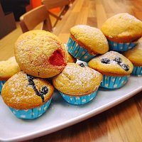 Strawberry or blueberry muffin? Which would you rather have?