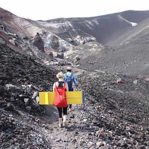 Hiking the volcano