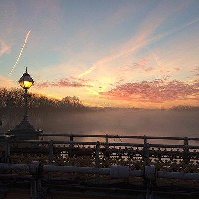 View from the foorbridge