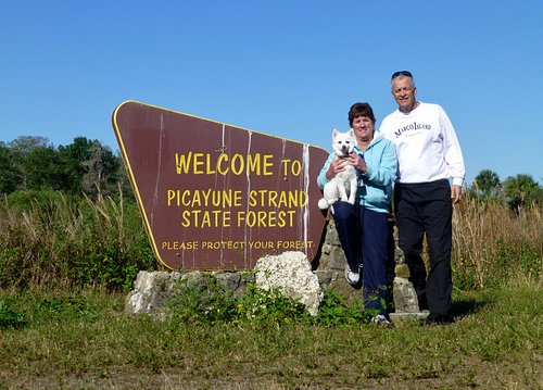 """This """"Welcome"""" sign is at the end of Janes Memorial Scenic Drive and entrance to the Picayune"""