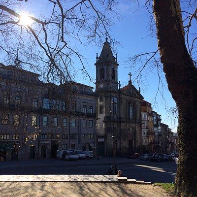 Вид на город с площади