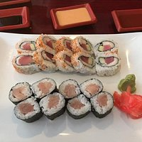 Hamachi Roll and spicy Double Tuna Roll