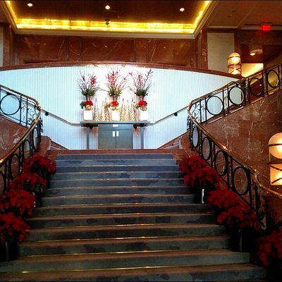 The lobby if Four seasons and the relaxation room inside the spa