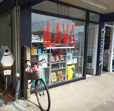 Outside the lava gift shop