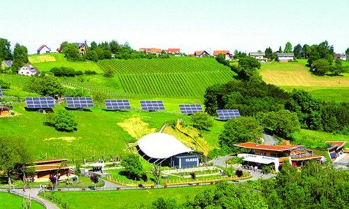 Spiel und Spaß im Essbaren Tiergarten bei Zotter in Riegersburg