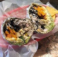 Monatsspecial Burrito mit gegrilltem Kürbis...yummy